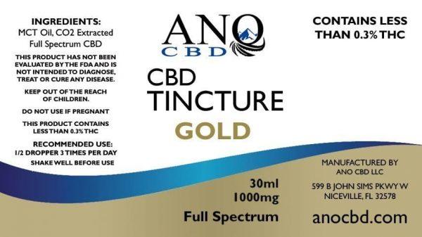 ANO GOLD - Full Spectrum CBD TINCTURE